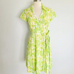 Lilly Pulitzer vintage daisy chain wrap dress